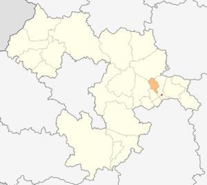 Chelopech Municipality - Image: Map of Chelopech municipality (Sofia Province)