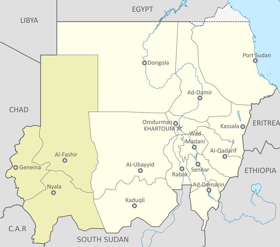 Location of Darfur