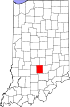 State map highlighting Brown County