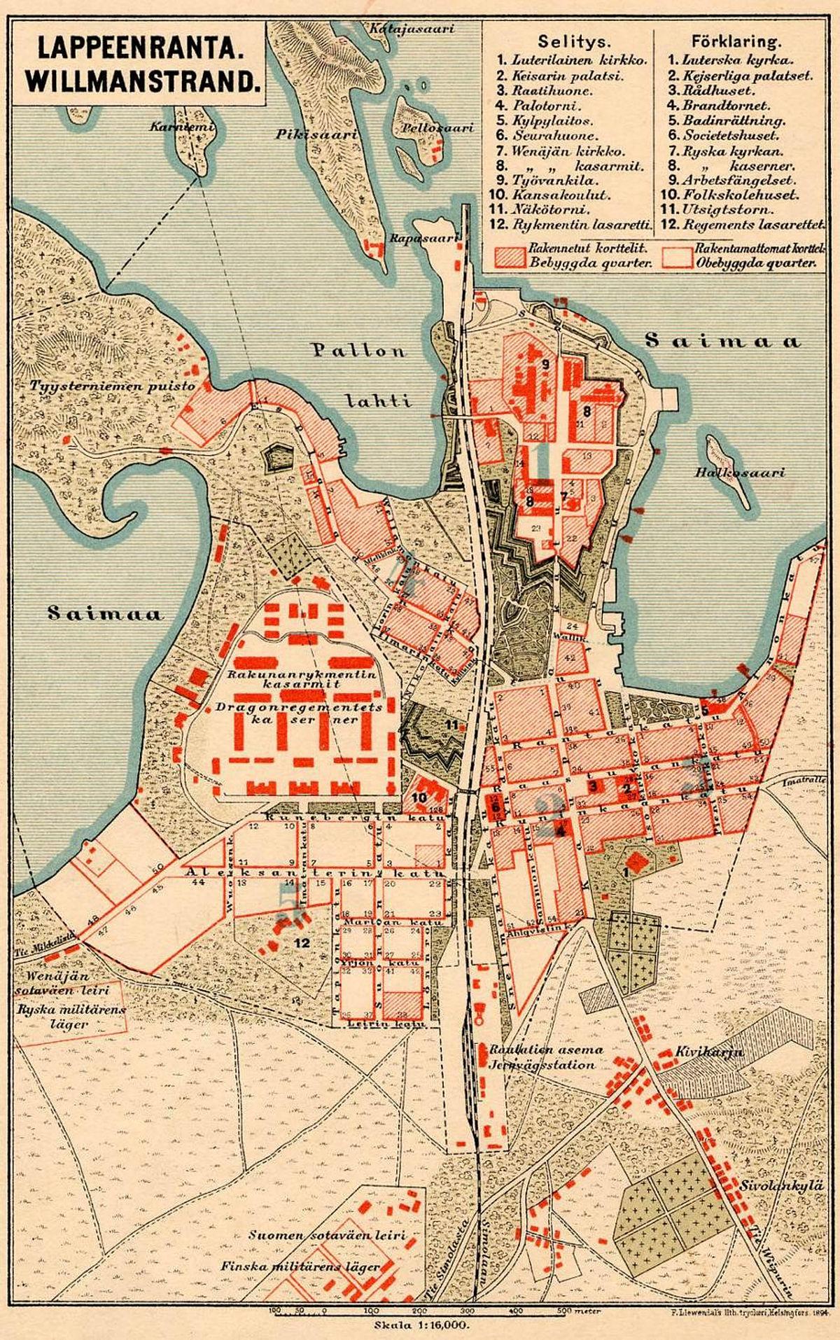 File Map Of Lappeenranta 1894 Jpg Wikimedia Commons