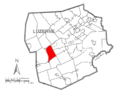 Map of Luzerne County, Pennsylvania Highlighting Conyngham Township.PNG