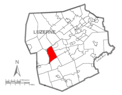 Map of Luzerne County, Pennsylvania Highlighting Conyngham Township