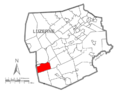 Map of Luzerne County, Pennsylvania Highlighting Nescopeck Township.PNG