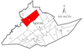 Map of Snow Shoe Township, Centre County, Pennsylvania Highlighted.png