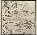 Map of Thasos island and Athos peninsula - Bordone Benedetto - 1547.jpg