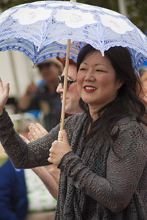 Margaret Cho - Cho at Los Angeles LGBT pride parade in 2011.