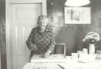 Estonian Swedes - Maria Murman (1911-2004), an Estonian Swede who remained in Estonia after the Second World War, in Vormsi (Ormsö), 1994.