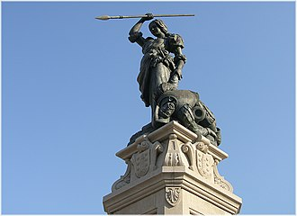 English Armada - Monument of the heroine Maria Pita in the Square of the Town Hall of A Coruña
