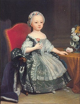 Maria Theresa of Savoy - Princess Maria Theresa by Giuseppe Duprà, circa 1762.
