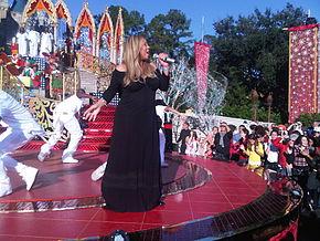 Mariah Carey durante un concerto nel 2010