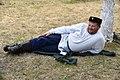 Marina Sviridova.Cossack is resting Мужчина-казак на фестивале казачьей культуры.jpg