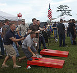 Marines, sailors pig out, New Bern Military Alliance fill and grill for single Marines, sailors 111012-M-QQ512-044.jpg