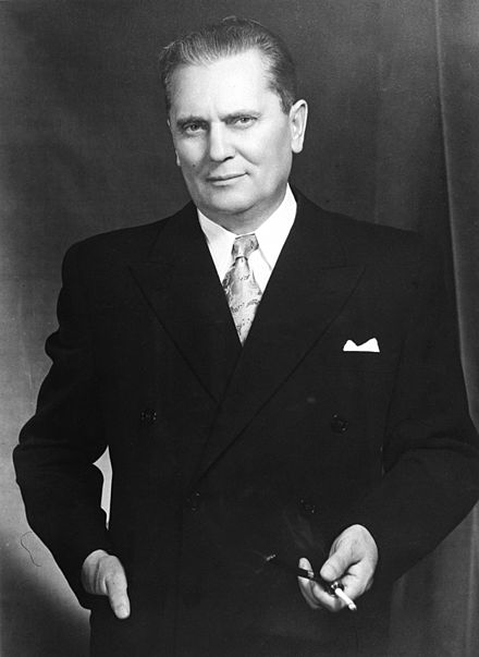 Marshal Josip Broz Tito led Yugoslavia from 1944 to 1980 Marshal Tito, the President of the Federal People's Republic of Yugoslavia.jpg