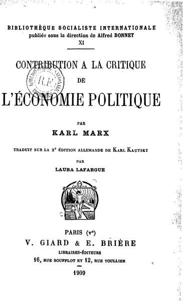 File:Marx - Contribution à la critique de l'économie politique.djvu