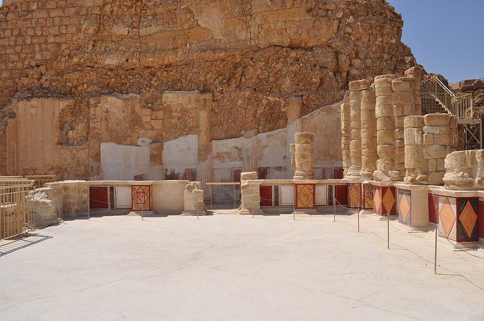 Masada, lower terrace - katsniffen