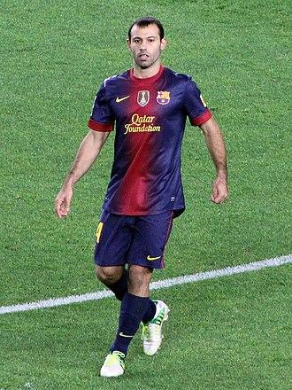 Javier Mascherano - Mascherano playing for Barcelona in 2012.