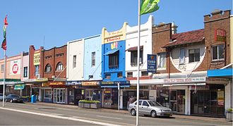 Mascot, New South Wales - Shopping strip, Botany Road