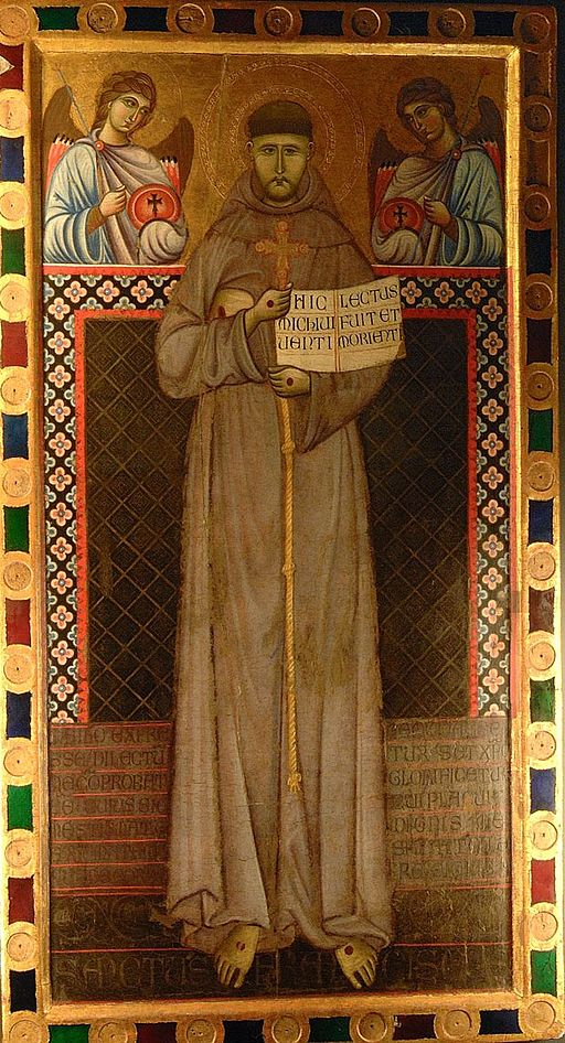 Master of St. Francis. Saint Francis and Angels, 13th cent. , Museo della Porziuncola, Assisi