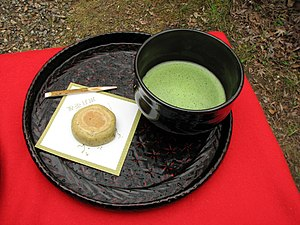 Wagashi - Wagashi served with Matcha tea