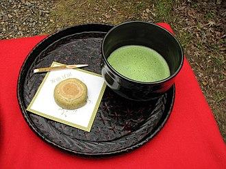 Wagashi - Wagashi served with Matcha tea