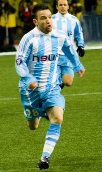 Mathieu Valbuena - Valbuena playing for Marseille in 2008