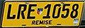 Matrícula automovilística Uruguay 2007 Colonia LRE 1058 remise.jpg