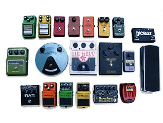 Effects unit - Various type of guitar and bass effect pedals.