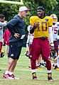 Matt Cavanaugh Skins quarterback coach and Robert Griffin III at RVA 2015 training camp (20287635949).jpg