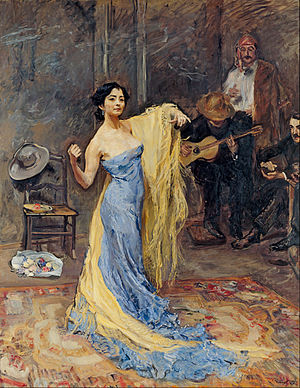 Max Slevogt - Portrait of the Dancer Anna Pavlova