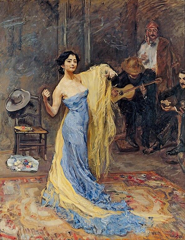 Portrait of the Dancer Marietta di Rigardo.1904. Max Slevogt.
