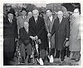 Mayor John F. Collins with an unidentified group of men at a groundbreaking ceremony (12462974503).jpg