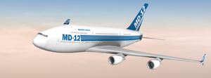 McDonnell Douglas MD-12 - Artist's impression of the aircraft