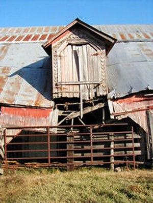 John Patrick McNaughton Barn - Image: Mc Naughton Barn Dormer 2001
