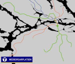Medborgarplatsen metro station - Image: Medborgarplatsen Tunnelbana
