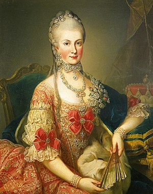 Maria Christina, Duchess of Teschen - Portrait by Martin van Meytens, 1765