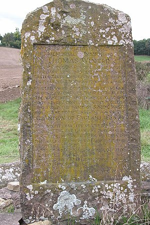 Tom Spring - Memorial to Thomas Winter in Fownhope