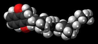 Menatetrenone - Image: Menatetrenone molecule spacefill