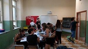 Rete degli Studenti Medi - Image: Mercatino del libro usato della Rete degli Studenti Medi a Palermo