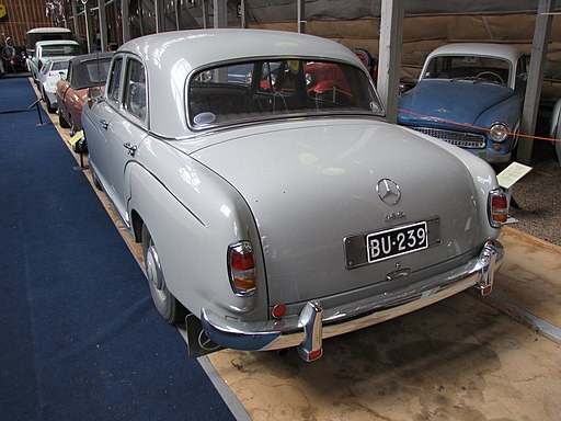 Mercedes-Benz 180a model 1958 back