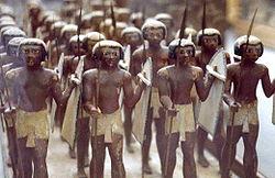 Infantería egipcia.