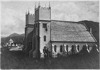 Metlakatla, Alaska - Metlakahtla Christian Mission Church, early 20th century. Founded by the Scottish missionary Father William Duncan