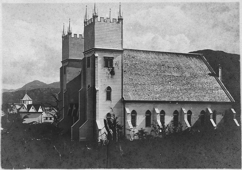 Metlakahtla Christian Mission Church, Metlakahtla, Alaska. Side view. - NARA - 297328.jpg