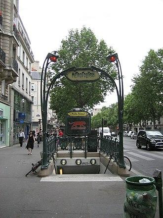 Mouton-Duvernet (Paris Métro) - Image: Metropolitain entrance to Metro