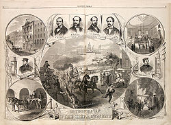 Original sheet celebrating the official formation of the Metropolitan Fire Department, 1866.