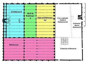План соборной мечети Кордобы Мечеть / Кафедральный собор Кордовы Мескита (Mezquita Cordoba)