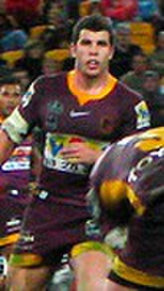 Michael Ennis - Ennis playing for the Broncos in 2008