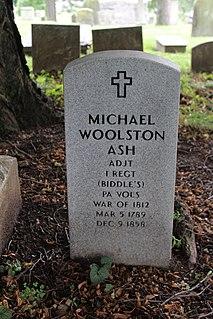 Michael Woolston Ash American politician