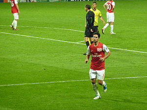Mikel Arteta - Arteta and Arsenal against Borussia Dortmund in the UEFA Champions League.