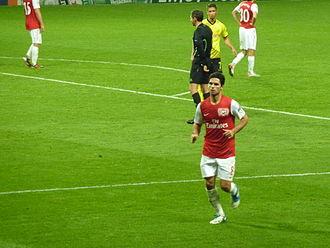 Mikel Arteta - Arteta and Arsenal against Borussia Dortmund in the UEFA Champions League.
