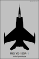 Mikoyan-Gurevich Ye-155R-1 top-view silhouette.png